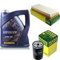 Motor-Öl 5L MANNOL Defender 10W-40 +MANN-FILTER Filterpaket VW Golf I 17 1.1