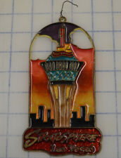 Stratosphere Las Vegas Stained Glass Suncatcher Panel Christmas Ornament Rare