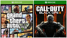 2 Xbox1 games:GTAV and COD Black Ops lll