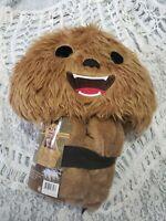 Star Wars Chewbacca Wookiee Hooded Blanket Baby / Child Mandalorian Disney New!