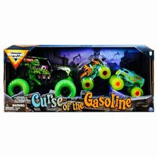 MONSTER JAM Curse Of The Gasoline SCOOBY-DOO Trucks MYSTERY MACHINE Grave Digger