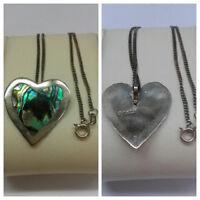 Kette 925 er Silber Silberkette mit Anhänger Herz Perlmutt Mexico 50 cm