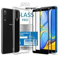 Samsung Galaxy A7 2018 - Coque + 2 Films Protection Écran en Verre trempé