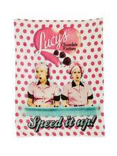 New I Love Lucy Chocolate Factory Plush Fleece Throw Gift Blanket Ethel Episode