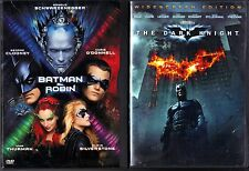 Batman & Robin (DVD, 1997, WS/FS) & The Dark Knight (DVD, 2008, Widescreen)