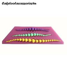 3D Pearl Beads Silicone Mould Lace Cake Decorating Border Fondant Baking Icing