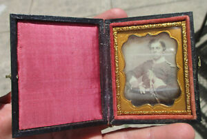 9th Plate Daguerreotype of 1850's British Army officer in Uniform with sword