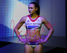 JESSICA ENNIS OLYMPICS SIGNED AUTOGRAPHED 10X8 REPRO PHOTO PRINT