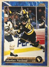 MARKUS NASLUND 1993-94 Score Hockey French #597 Top Rookie Card RC Pens Canucks