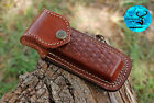 HAND MADE PURE COW LEATHER SHEATH FOR 5' FOLDING KNIFE & OTHER TOLS - AJ 1362