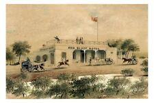 SANDRINGHAM Red Bluff Hotel 1890 painting modern digital Art Postcard