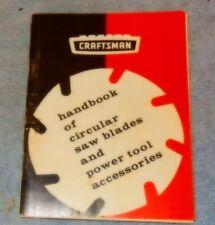 1969 Craftsman Handbook of Circular Saw Blades & Power Tool Accessories sharpen
