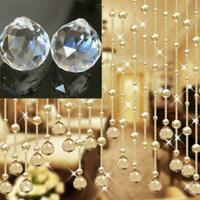 20mm Clear Feng Shui Hanging Crystal Ball Lamp Sphere N Rainbow Sun Catcher J3H3