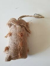 Hessian Sack Bag Cage Bird Budgie Canary Finch Hanging Toy