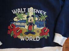 Kids Boys Girls DISNEY WORLD PARKS Blue Hoodie Sweatshirt Mickey Surfboard L