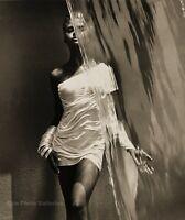1988 HERB RITTS Female Model KAREN ALEXANDER See Thru Waterfall Photo Art 11x14