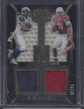 1/1 TODD GURLEY DAVID JOHNSON 2016 BLACK GOLD VS DUAL JERSEY #D 30/99 JRSY #30 !