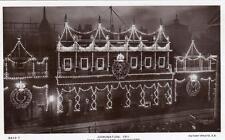 Coronation 1911 Bank of England Illuminations unused RP old pc Rotary