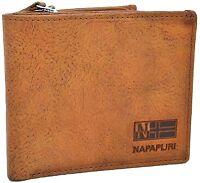 Portafoglio Uomo Napapijri Pelle 12CC porta monete Zip marrone N8G06-rugged