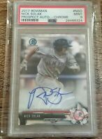 2017 Bowman Chrome Auto Nick Solak RC Rookie Texas Rangers NY Yankees PSA 9
