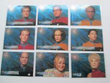STAR TREK VOYAGER SEASON 1 SERIES 1 SPECTRA FOIL CREW SET S1-S9 (9 cards))