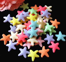 20Pcs 20mm Mixed Color Starfish Spacer Loose Beads DIY Craft Making