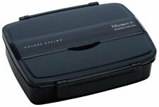 SKATER Bento Lunch Box 870ml Brack With Partition & Chopsticks Ship from Japan
