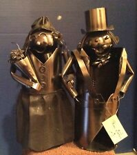 Wine Bodies Wine Bottle Holder Metal Bride & Groom Couple - Wedding