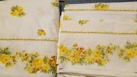 VINTAGE SHEET SET TWIN FLAT FITTED 2 PILLOW CASES Wards 50/50 PERCALE