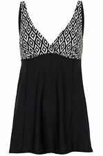 BNWT FAB FLATTERING BLACK AND WHITE PRINT SWIMDRESS WITH TUMMY CONTROL SIZE 22