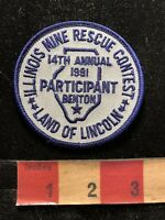 Vtg 1991 Benton Illinois Mine Rescue Contest Advertising Patch 83K7