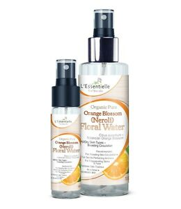 Organic 100% Orange Blossom Neroli Floral Water DUO 30&150ml Dry Skin FaceToner