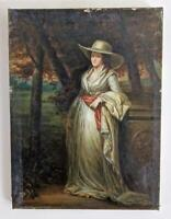 AFTER SIR HENRY RAEBURN MRS DOWNEY PORTRAIT Oil Painting On Canvas 19TH CENTURY