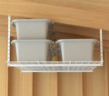 Storage Shelf Ceiling Garage Overhead Wire Raises Rack Shelves Hanging Organizer