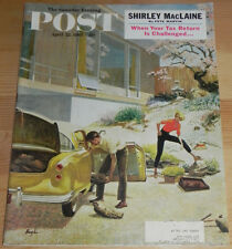 Saturday Evening Post April 22, 1961 Shirley MacLaine Pepsi Ad George Hughes