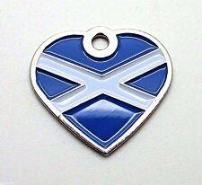 La Saltire ~ Bandera Nacional de Escocia ~ pequeña mascota corazón etiquetas de identificación