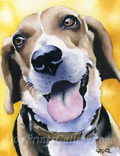 Dachshund Art Print Watercolor Art 11 X 14 Signed by Artist DJ Rogers