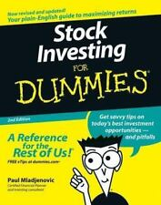 STOCK INVESTING FOR DUMMIES BY PAUL MLADJENOVIC PAPERBACK