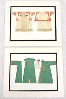 1922 Coppia Di Antico Impronte Costume Ungherese Folk Abito Etnico Textiles