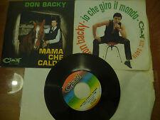"DON BACKY""IO CHE GIRO IL MONDO-disco 45 giri CLAN 1967"" APRIBILE"