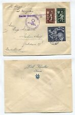 K951, LITHUANIA, NICE CENSORED AIR MAIL COVER 1939 TO GERMANY W. BASKETBALL ST.