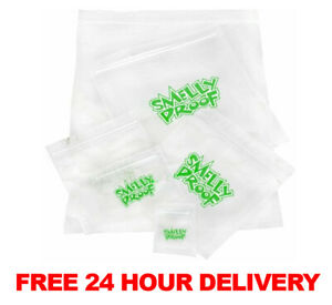 Smelly Proof Bags No Smell Air Tight Zip Seal Baggies All Size Grip Storage Bag