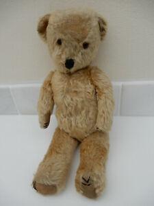 Vintage Teddy Bear Straw Filled 16ins
