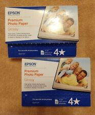 "Epson S041727 Premium Glossy Photo Paper 2 x 100 200 Sheets 4"" x 6"" SHIPS FAST!"