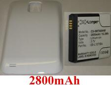 Coque + Batterie 2800mAh type EB-L1D7IBA Pour Samsung SGH-T989 Galaxy S II
