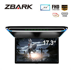 "17.3"" Screen Full HD 1080P Car Roof Flip Down Digital Monitor USB HDMI Overhead"
