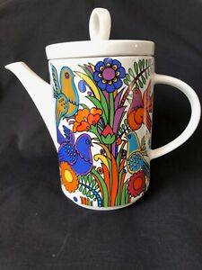 Vintage Villeroy And Boch Acapulco Coffee / Tea Pot, 70s' Boho Tableware