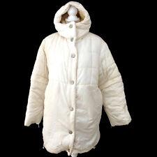 Auth CHANEL Snow Line CC Coat White 100% Polyamide Vintage Italy #38 V12142