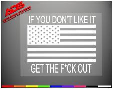 American Flag Funny Vinyl Window Decal Sticker Car Truck 2nd Line USA Merica #9