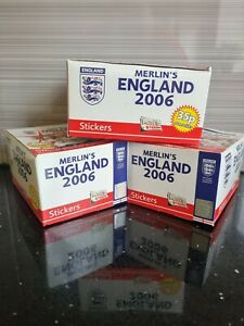 Merlins England 2006 Official Sticker Collection - Full Box (50 Stickers packet)